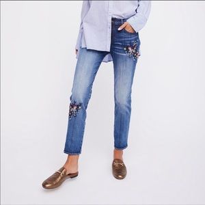 DRIFTWOOD Beau Embroidered Jeans 25